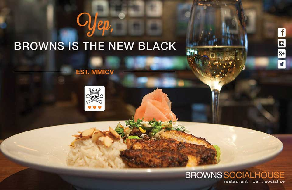 Brown's Social House: Yep, Browns is the new black